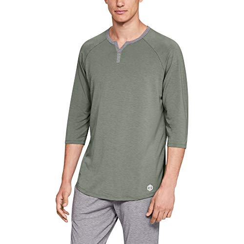 - Under Armour Men's Recovery Sleepwear Henley, Moss Green (492)/Metallic Silver, X-Large