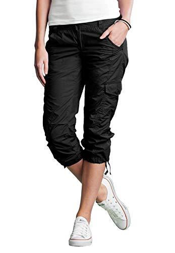 Capri Leggings Cargo (Ellos Women's Plus Size Cargo Capris - Black, 14)