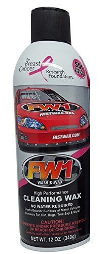 FW1 Waterless Wash & Wax Polish with Carnauba (12oz) by Fast Wax (1 can)