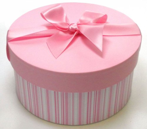 Small Pink Round Gift Box (Hat Box Style): Amazon.co.uk: Kitchen ...