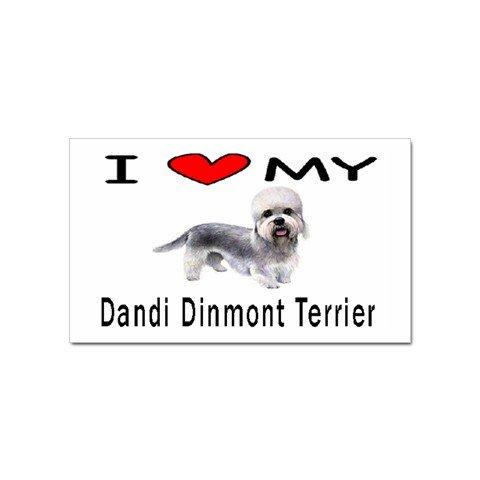 I Love My Dandie Dinmont Terrier Rectangular Magnet