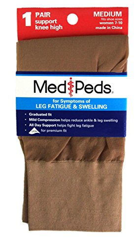port Sheer Knee High 1 Pr Ladies Medium Nude (Medi Womens Sheer)