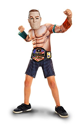 [WWE John Cena Deluxe Muscle Suit with Championship Title Belt] (Kids Wwe Costumes)