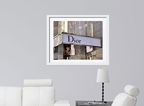 Dior Wall Art, Dior Store Sign Art Print, Fashion Wall Art, New York City Fashion Photography, Fashion Wall Decor, Dorm Wall Art, Girls Room Print, Bathroom Wall Decor, Bedroom Artwork