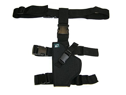KT Kingman Training Eraser Chaser Paintball Pistol Thigh Holster LEFT HAND Ballistic Nylon Thigh Holster