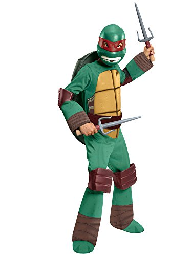 Rubies Teenage Mutant Ninja Turtles Deluxe Raphael Child Costume-Small ()