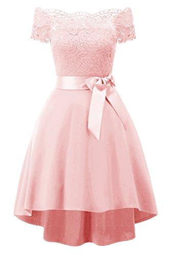 largo fiesta de de honor de con gasa noche para BRAUT hermoso escote vestido vestido Rosa TOSKANA corazón damas de vxnTZqW