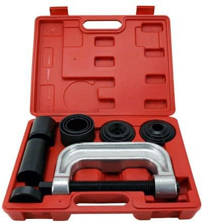 Ball Joints Press Removal Set 4 Bushing and Balljoint Brake Tools Four Wheel Drive Adapters Included Universal Remover and Installer for 2wd and 4wd Vehicle Ball Joint Service Tool Kit