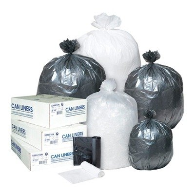 IBSS303710K - Inteplast Group High-density Can Liner, 30 X 37, 30-gallon, 10 Micron, Black, 25/roll