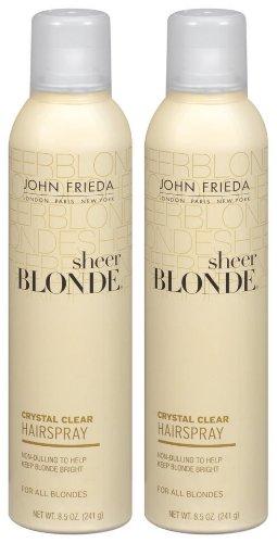 John Frieda Sheer Blonde Crystal Clear Hairspray, 8.5 - John Frieda Sheer Blond Hairspray