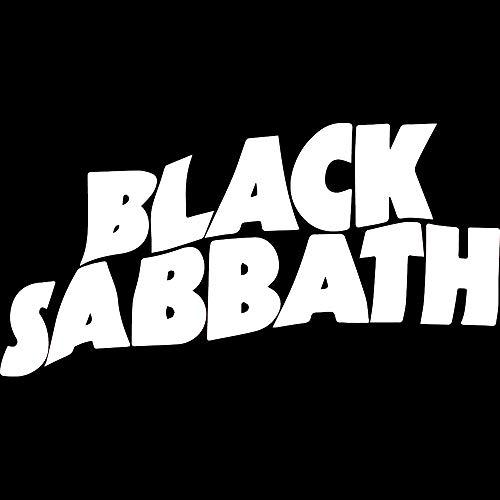 (NBFU DECALS Black Sabbath (White) (Set of 2) Premium Waterproof Vinyl Decal Stickers for Laptop Phone Accessory Helmet CAR Window Bumper Mug Tuber Cup Door Wall Decoration)