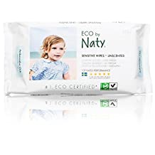 Naty by Nature Babycare Eco-Sensitive Fragrance-Free Wipes, 672-Count