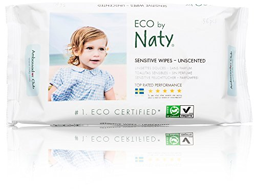 Naty by Nature Babycare Eco Baby Wipes, Unscented, 12 Counts of 56 (672 wipes)