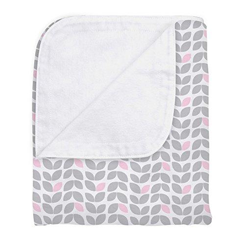 Kushies Reversible Crib Blanket, Grey Chevron