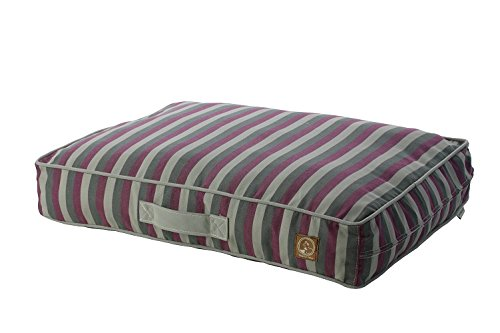One for Pets Siesta Indoor Outdoor Pet Bed Dog Bed, Small, Purple Stripe