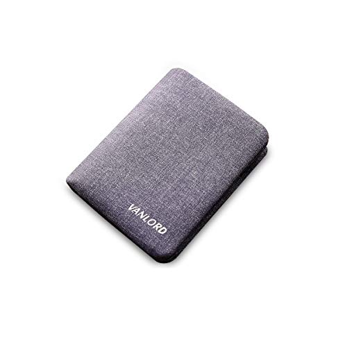 HAOYUSHANGMAO Men's Bifold Wallet, Short Wallet, Currency Storage Box, Men's Boxed Gift (Denim Blue) Latest Models (Color : Denim Blue, Size : 911.8cm)