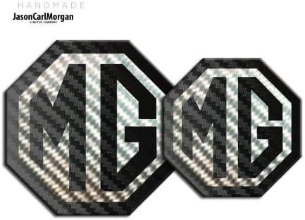 JasonCarlMorgan MG TF LE500 ab 2009 Carbonfaser-Emblem 90 mm vorne und hinten 70 mm
