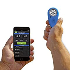The Weatherflow WEATHERmeter is a highly accurate miniature weather device used with your smartphone to measure wind, temperature, humidity and pressure readings. You can record data in a variety of compatible apps including the free Wind &am...