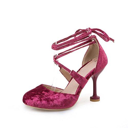 Femme 36 5 Rouge Rouge AdeeSu Sandales Rose Compensées AqU88xZ