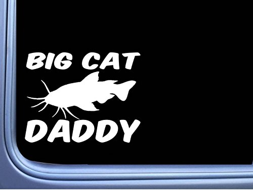 EZ-STIK Big Cat Daddy M379 6 inch Sticker Decal catfish stink bait fishing