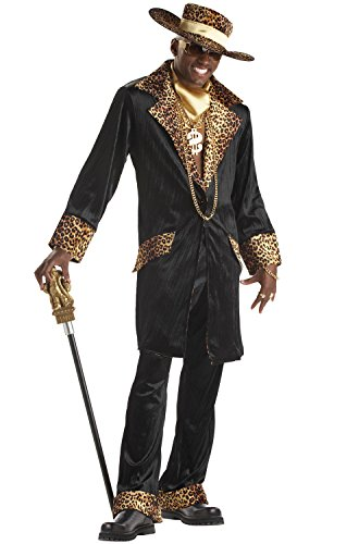 [California Costumes Men's Supa Mac Daddy Costume,Black,X-Large] (Styles Pimp Costumes Hat)