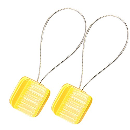 - Chictie 1 Pair Square Candy Bright Color Magnetic Tiebacks Holdbacks Summer Window Door Drapery Curtain Clips Treatments for Kids' Room (Yellow)