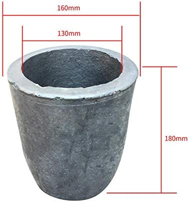 Dumadf Gießerei Siliziumkarbid Graphit Tiegel Tasse Raffinieren Gold Silber Kupfer Messing Aluminium für 12 kg Kupfer oder 4 kg Aluminium