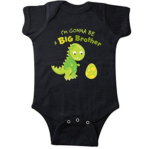 inktastic I'm Gonna Be a Big Brother-Dino Infant Creeper 12 Months Black