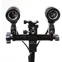 Foto4easy Studio E27 Dual Light Lamp Socket Mount Swivel Umbrella Holder Bracket Adapter