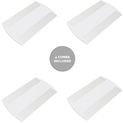 Lice Comb Nit Comb Head Treatment Suitable for Kids and Pets - 4 Pack