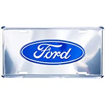 Ford Logo Deluxe Silver License Plate