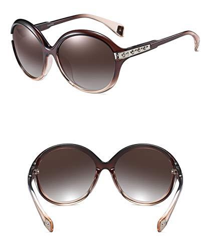 Clásico Gafas Europa Vintage Gran Retro De WJYTYJ América Gafas Sol Polarizado Y radiación Caja Redondo 2 Marco Anti pnwOv