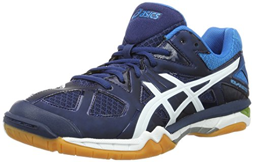 Asics Gel-Tactic M, Scarpe da Pallavolo Uomo Blu (Poseidon/White/Safety Yellow)