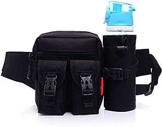 elegantstunning militare marsupio, multifunzionale Storage design, facile da trasportare, con cintura regolabile e removibile bollitore borsa, Nero