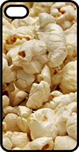 Fluffy White Popcorn Black Rubber Case for Apple iPhone 4 or iPhone 4s