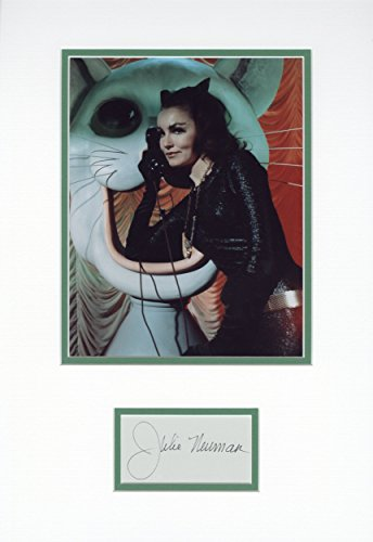 - Julie Newmar Catwoman 12x18 Signed Matted Display Piece
