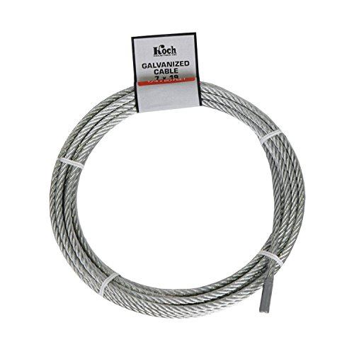 Koch A41212 7 x 19 Pre-cut Galvanized Wire Rope Cable 1/4...