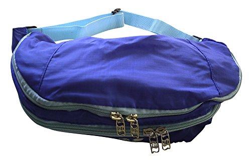 Fanny Pack Bag Belt 5-In-1 Backpack, Waist, Shoulder, Front/Back Sling Lightweight Water-Resistant for Running, Hiking, Walking, (Hiker Waist Pack)