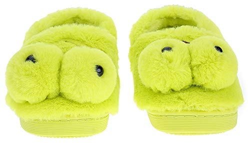 UIESUN Cute Frog Unisex Toddler Kids Slippers Shoes for Boys Girls House Slipper Green 16/17 by UIESUN (Image #2)
