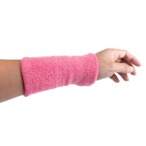 GOGO 6 Inch Long Thick Wristband / Sweatband  - Pink