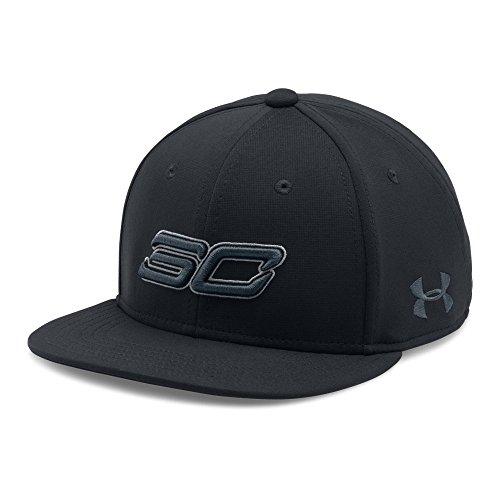 Under Armour Boys' SC30 Core Snapback Cap, Black/Black, One Size (Baseball Cap Black Basketball)
