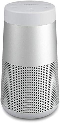 Bose SoundLink Revolve, tragbarer Bluetooth – Lautsprecher (mit kabellosem 360°-Surround-Sound), Silber