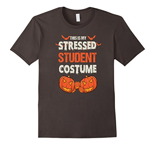 Mens This is my Stressed Student Costume T Shirt Large Asphalt