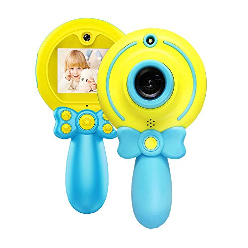 BAIZE Kids Camera, Mini 2 Inch Screen 8MP HD Kids Video Camera for Kids Shockproof Handle Designed Children Selfie Toy Camera Kids Camcorders for 3-12 Years Old Boys Girls Birthday Gifts(Blue)