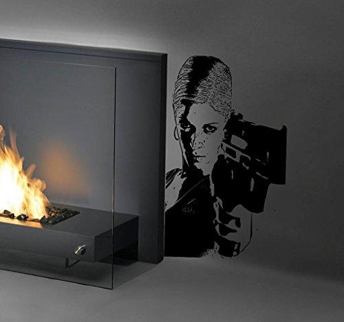 [Woman Gangster Girl Pistol Revolver Bandit Kids Room Children Stylish Wall Art Sticker Decal G10080] (Female Gangsters)