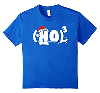Ho Cubed Funny Christmas T-shirt For Math Teachers Geeks
