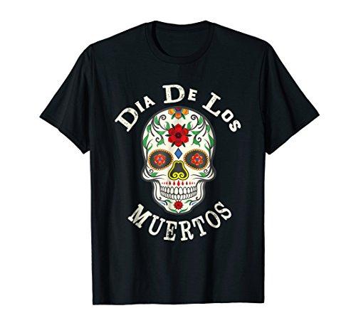 Mens Sugar Skull T-Shirt Day of the Dead Dia de los Muertos XL (Dia De Los Muertos Men)
