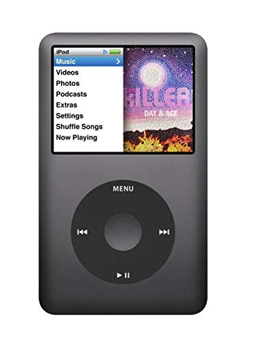Music Player iPod Classic 7th Generation 160gb Black Packaged in Plain White ()