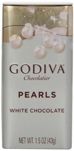 Godiva White Chocolate Pearls 1 5 Ounces