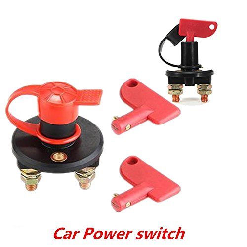 Haihuic Battery Isolation Switch With 2 Removable Keys Battery Disconnect Cut Off Kill Switch 50A/24V 100A/12V for Marine Car Boat RV ATV Vehicles Sedeta